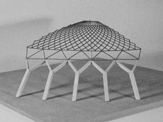 The final explanatory model of 1/6 of the roof structure from Pier Luigi Nervi's Small Sports Palace