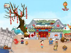 iPad game teaches children about Chinese New Year traditions. FREE.