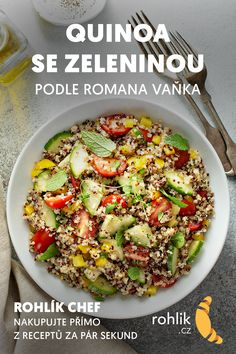 Quinoa, Cobb Salad, Grains, Vegetables, Food, Essen, Vegetable Recipes, Meals, Seeds