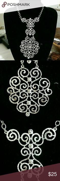 Vintage Caroline Necklace A bit of tarnishing on bottom section. Caroline Jewelry Necklaces
