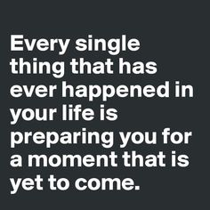 Things yet to come