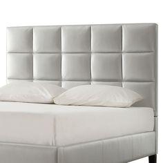 Inspire Q Garvey Upholstered Headboard - Silver (Queen) Bedroom Furniture Stores, Furniture Deals, Luxury Furniture, Bedroom Decor, Bedroom Ideas, Master Bedroom, King Size Upholstered Headboard, Headboard Shapes, Headboard Ideas