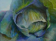"Giclee Print on Canvas Cabbage Vegetable Painting Choose your Size Ready to Hang. Free Shipping. I loved this painting and I am happy to now be able to offer it to you as a 8x10.75"" canvas print. This big, beautiful head of cabbage is full of color from creams, greens to blues and lavenders. The original is sold , so this listing is for a giclee canvas print of my original oil painting, professionally printed and of the highest quality. Click ""options"" to order the size you desire. It is..."