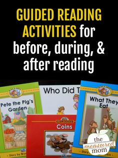 Get a list of practical before, during, and after guided reading activities for kids in K-2! I love the printable list! #guidedreading #kindergarten #firstgrade #secondgrade