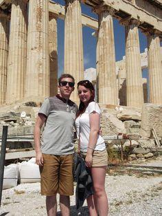 Us both at Athens!!