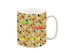 Fun Shibe Doge Mug A ceramic Microwave and dishwasher safe :) All our mugs are printed in our design studio in the UK. Funny Mugs, Funny Gifts, Tea Mugs, Coffee Mugs, Doge, Cool Gifts, Ceramics, Unique Jewelry, Tableware