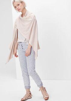Jersey poncho met kant bestellen | s.Oliver Online Shop