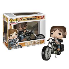 Walking Dead Daryl Dixon with Chopper Pop! Vinyl Vehicle ~ OMYGOSH get me this and crossbow Daryl and I'll love u foreves~