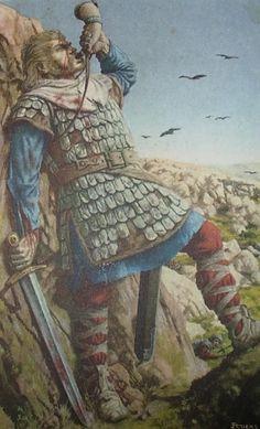 """À Roncevaux Roland sonne du cor pour appeler Charlemagne à l'aide - La chanson de Roland. Son épée Durandal fut-elle forgée avec le minerai de fer des mines des Hurtières ? Découvrez cette histoire avec les @GuidesGPPS au site minier des Hurtières """"Le Grand Filon"""" Maurienne Savoie France http://www.gpps.fr/Guides-du-Patrimoine-des-Pays-de-Savoie/Pages/Site/Visites-en-Savoie-Mont-Blanc/Maurienne/Saint-Georges-d-Hurtieres-Site-minier-des-Hurtieres"""