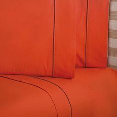 Juego de Sabanas Elegance Naranja #Basicos #Sabanas #Hogar #IntimaHogar #Decoracion