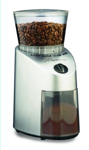The Capresso 560 Infinity Burr Grinder makes the list as one of the must have grinders to consider for all your coffee grinding needs!