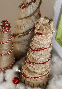 Burlap christmas tree burlap ornaments christmas bells diy handmade burlap christmas tree burlap ornaments christmas craft ideas burlap crafts solutioingenieria Gallery