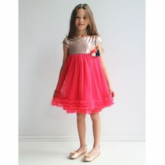 Innocence Sequin and Tulle Dress Sequin Top, Tulle Dress, Girls Dresses, Coral, Sequins, Skirts, Cotton, How To Make, Tops