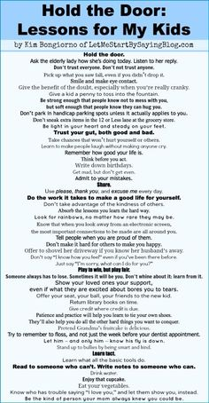 I dunno know how they did it but my parents taught us this without even having to explicitly saying the words. I love this, wish I had it printed out! Kids And Parenting, Parenting Hacks, Parenting Quotes, Parenting Plan, Gentle Parenting, Parenting Articles, Peaceful Parenting, Parenting Styles, The Words