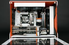 Awesome white and orange Computer Rig! @techafy