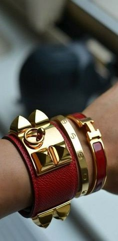 Amazing Hermes Bracelet Stack Cdc Clic Clac And Cartier Love I Must Get This Combination