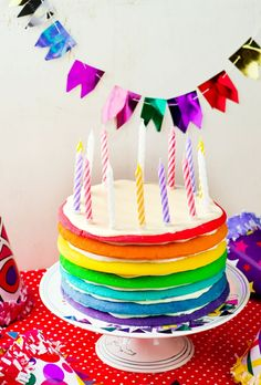 Some say that birthday cakes are the most important part of a kid's birthday party. Check out these tips on how to ensure that the cake is delicious and tailored to the birthday girl or boy and matches the party theme. Toddler Birthday Cakes, Rainbow Birthday Party, Birthday Party Games, First Birthday Parties, Birthday Party Decorations, Party Themes, Party Ideas, Preschool Birthday, 30 Birthday