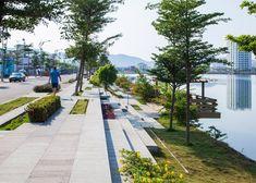 MIA Design Studio complete waterside park in Vietnam #UrbanLandscape