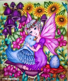 Adult Coloring, Coloring Books, Coloring Pages, Fairy Sketch, Unicorns And Mermaids, Markova, Pencil And Paper, Colorful Drawings, Dot Painting