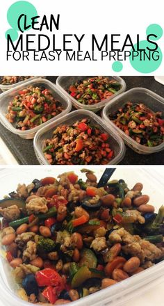 [Clean Medley Meals for meal prepping]  These meals are so easy to mix and match and throw together! I love to do these types of meals for meal prep because it doesn't take too much time or thinking! And they are 21 Day Fix friendly!