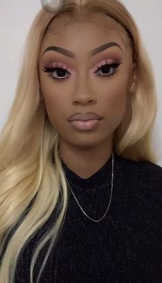 Glam Makeup Look, Black Girl Makeup, Cute Makeup, Girls Makeup, Gorgeous Makeup, Pretty Makeup, Beauty Makeup, Hair Makeup, Glamour Makeup