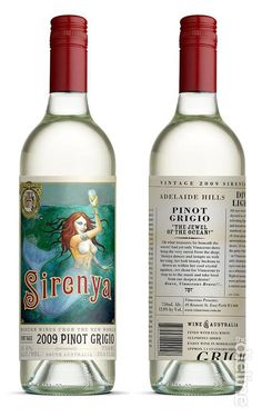 Wine label design: Sirenya Pinot Grigio