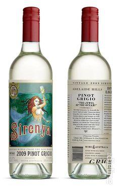 Wine label design: Sirenya Pinot Grigio