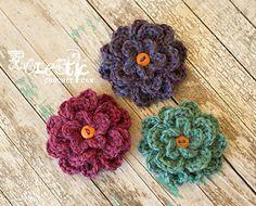 Fluffy Flower by Eclectic Crochet by Roxy...free pattern!