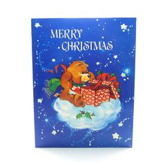 Merry Christmas Care Bears Card with by BrownEyedRoseVintage