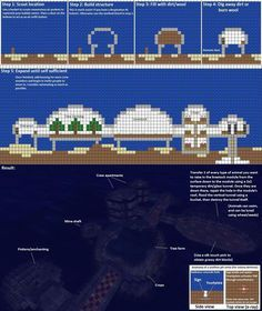 minecraft survival underwater house instructions - Google Search
