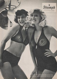 5bf4a12fd 70 s Triumph girls wearing black lacy underwear  TBT  heritage Triumph  International