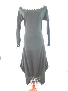 NWT 575$ ILONA. K  Size L/XL BLACK LAGENLOOK BALLOONED DRESS  #IlonaK #Lagenlook #Casual
