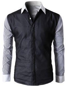 f57d0fc1e86b Herrenmode, Männer Sandalen, Button-down-hemden, Männer Shirts, Lange  Ärmel, Herrenbekleidung, Mens Fashion, Denken, Streifen