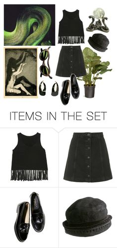 """the snake woman"" by selini-77 ❤ liked on Polyvore featuring art"