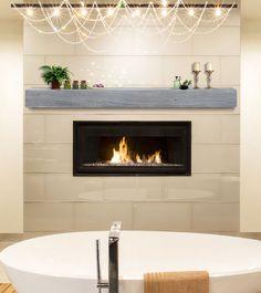820 Oak Driftwood Beam Donny Osmond Home Heritage Series Floating Fireplace, Wood Fireplace Mantel, Floating Shelf Decor, Floating Shelves Bathroom, Fireplace Shelves, Fireplace Remodel, Fireplace Ideas, Fireplace Design, Mantel Ideas