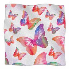 East Urban Home Butterfly by Li Zamperini Fleece Blanket