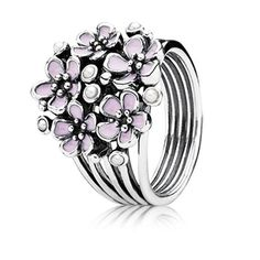 Stunning statement ring � cherry blossom bouquet available at Pandora Jewelry at Blakeney Town Center, Charlotte, NC