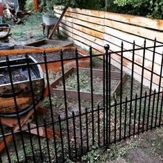 No Dig Black Powder Coated Steel Fence Panel Common 36