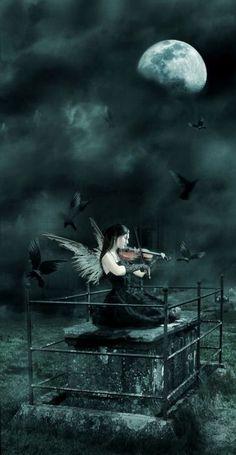 Dark Angel ༺ß༻ Dark Fantasy Art, Dark Gothic Art, Fantasy Kunst, Gothic Artwork, Angel Wallpaper, Ange Demon, Angel And Devil, Angels And Demons, Fallen Angels
