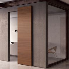 FILA door is like a 'wall in motion': its sliding system is always hidden whether open or closed. It represents the ideal choice for external sliding doors and can also be used for walk-in-closets. The result is a refined and exclusive aesthetic. External Sliding Doors, Sliding Door Design, Sliding Wall, Modern Sliding Doors, Modern Barn Doors, Sliding Cupboard, Sliding Bathroom Doors, Cupboard Doors, Design Innovation