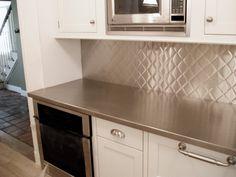 Stainless Steel Backsplash Quilt Texture