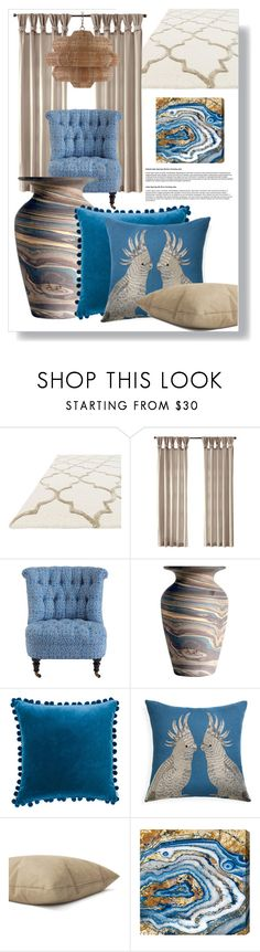 """Untitled #3860"" by kellie-debrandt-mescher ❤ liked on Polyvore featuring interior, interiors, interior design, home, home decor, interior decorating, Ballard Designs, Jonathan Adler and Oliver Gal Artist Co."