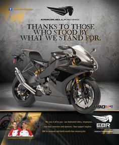 Erik Buell Racing Print Ad