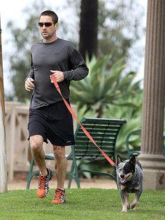 Luke Wildson and his mutt training buddy