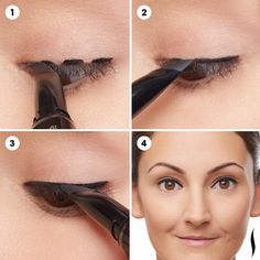 "#PROtip: For an easy @benefitcosmetics They're Real! Push-Up Liner application, try the ""stamping technique."" First, twist the base of your liner just one click (this will distribute the proper formula amount to the tip of your pen). Then, stamp three marks on your lash line. Last, connect the stamps to form a full, beautiful line. It's a lot easier than just drawing a straight line! #benedit #eyeliner #Beauty #tip #protip"