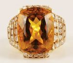 Elvis' Diamond and Black Star Sapphire Gold Nugget Ring