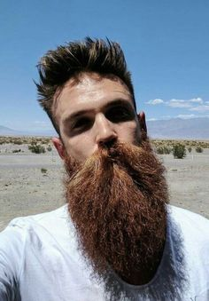 Trending beard style men in Find the best beard designs and shapes for their short and long facial hair with masculine character and charm. Beard Styles Names, Long Beard Styles, Hair And Beard Styles, Red Beard, Ginger Beard, Beard Love, Great Beards, Awesome Beards, Types Of Facial Hair