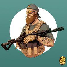 Military, Sergey OnePixelHero on ArtStation at https://www.artstation.com/artwork/Xlbln