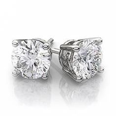 Diamondwave Round Diamond Stud Earrings In 18k White Gold 70ctw Better Clarity