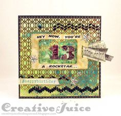 Holiday Sizzix Projects with DCWV: Mixed-Media Birthday Card with Stitchlits by Lisa Hoel